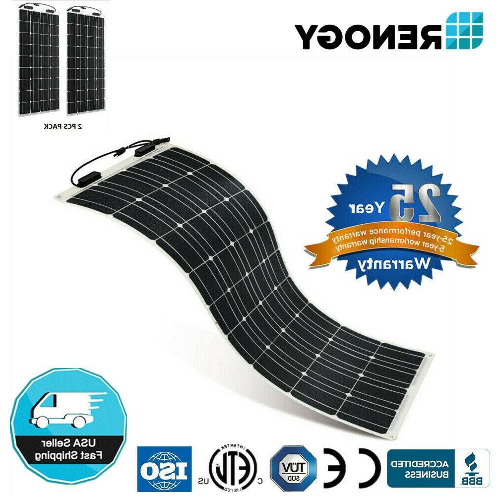 2pcs 248 flexible 100w 12v mono solar