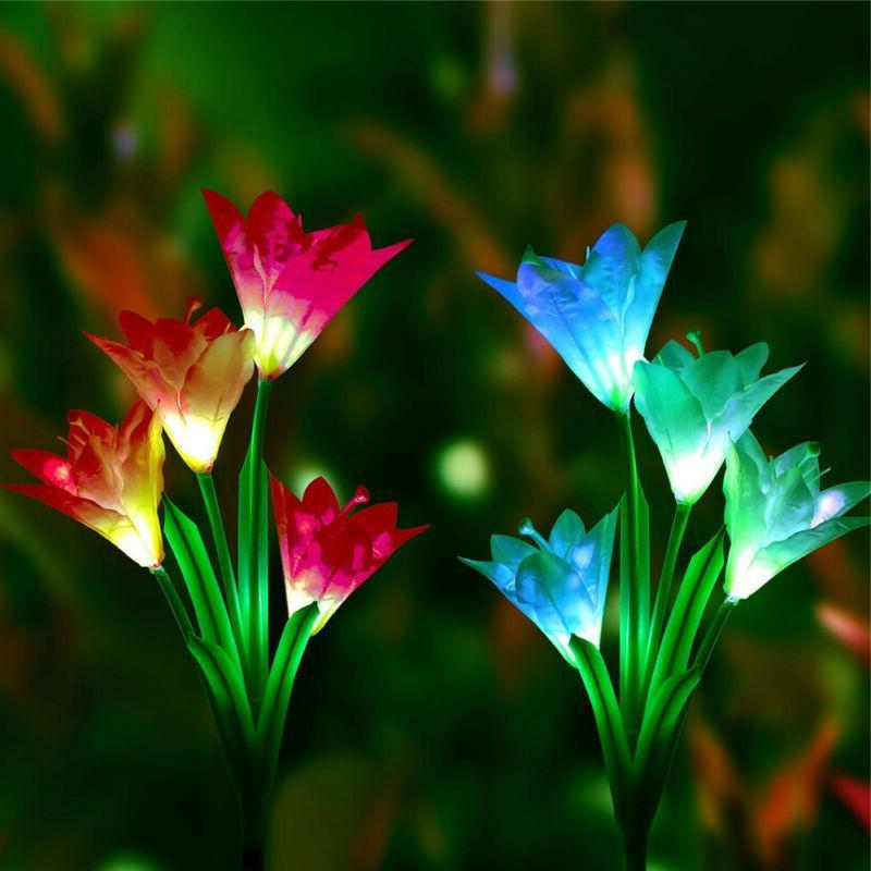 2pcs Light Fixtures Lily Solar Lamp