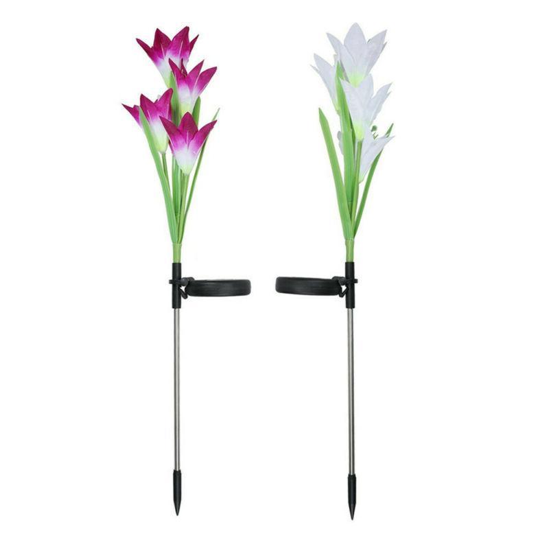 2pcs color change led light fixtures lily