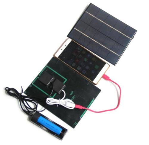3 5w 5v solar panels charge solar