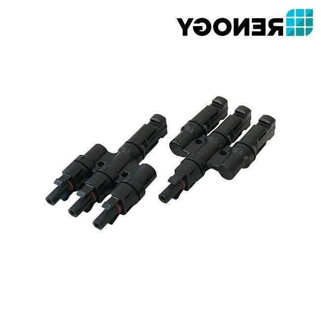 Renogy 3 MC4 Y Connectors PV Connector MMF+FFM