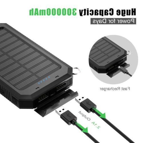 500000mAh External Solar Power Bank Battery Charger for