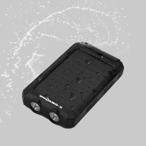 500000mAh Portable Solar Power Charger for Phone