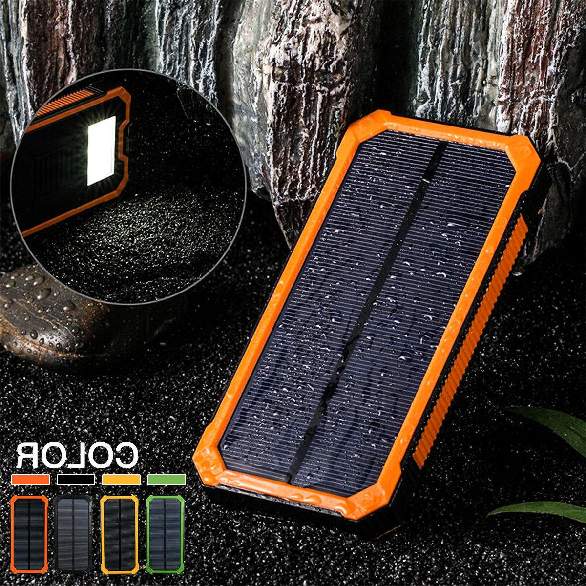 500000mah solar charger power bank portable dual