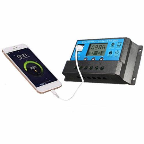 30A 20A Solar Panel Regulator USB