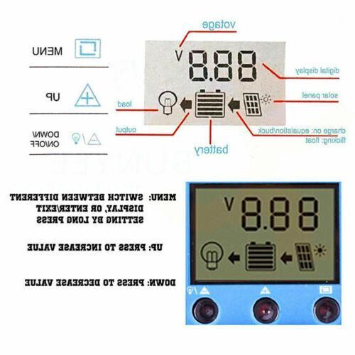 30A 20A 10A Panel Controller Regulator With USB