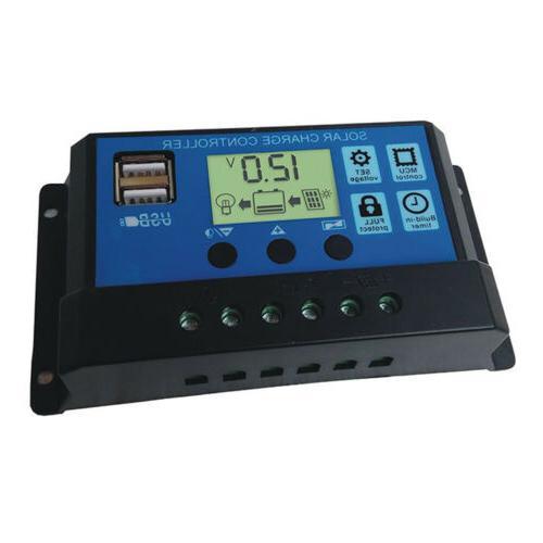 30A Panel Controller Battery Regulator 12V/24V