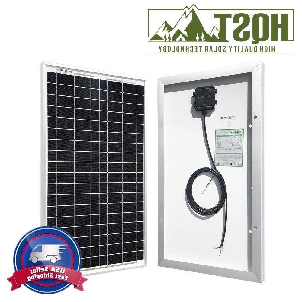 HQST 30W 12V Mono Solar Panel Portable 30 Watt Off Grid PV P
