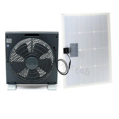 30W Solar Fan+1.2m DC For Camping