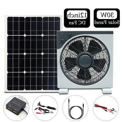 30w dc12v 5v double usb solar panel
