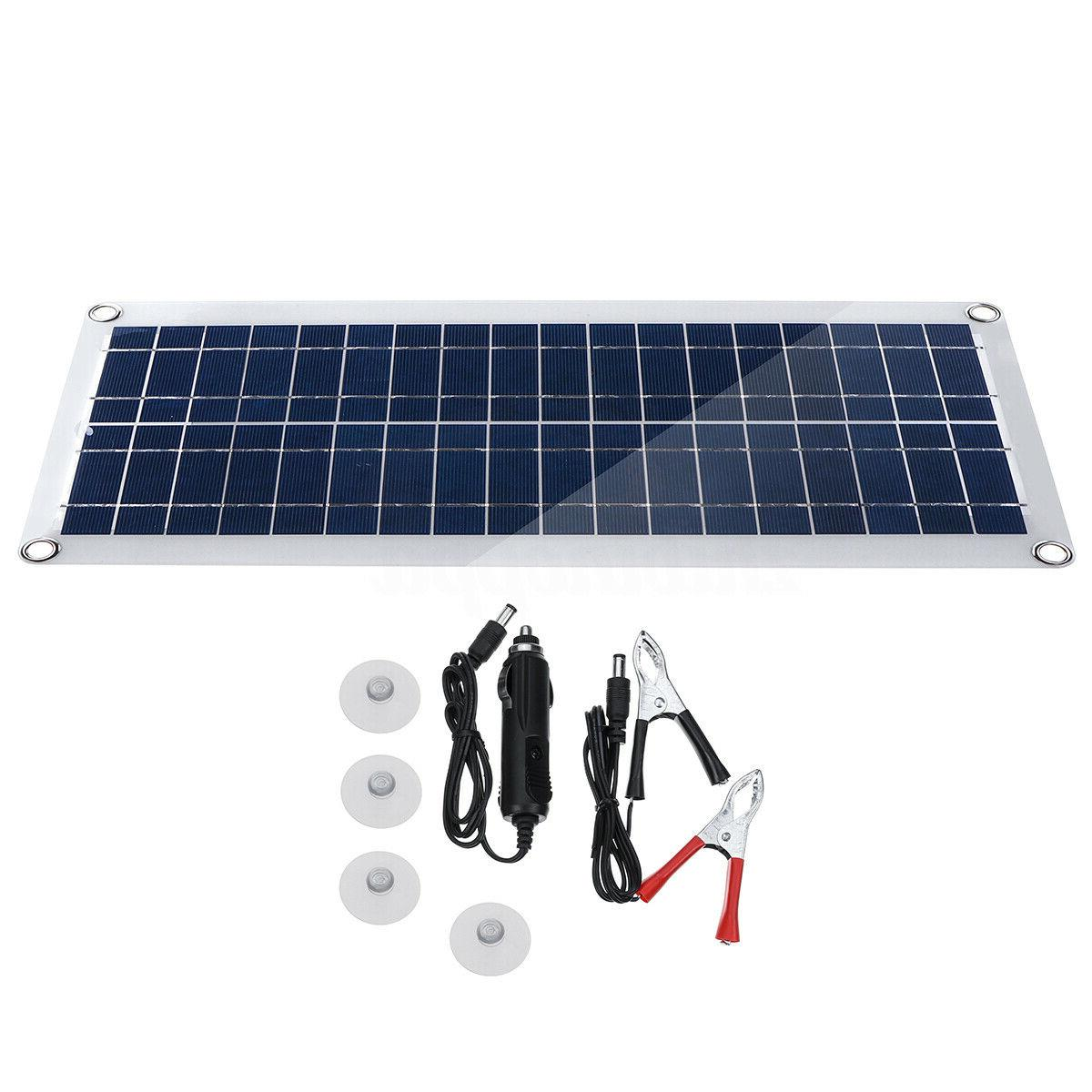 30W USB Flexible Solar Kit+Controller+Clip Car Charger Power