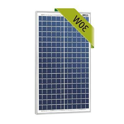 30w watts 12v poly solar panel module