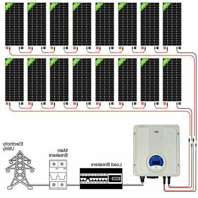 3KW 5KW Tie Panel :195W Solar Factory
