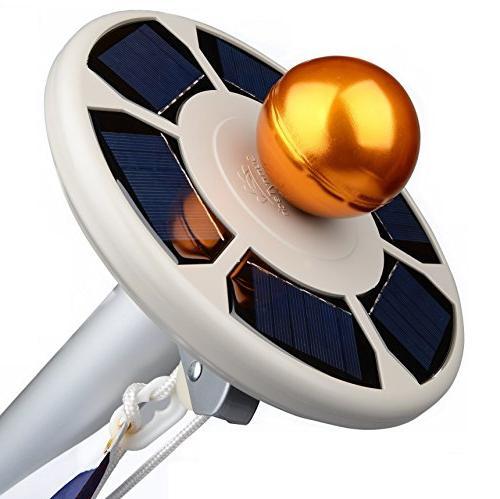 Sunnytech Generation Power Flag Light,Upgraded UFO Solar Batteries Self-Charging Active