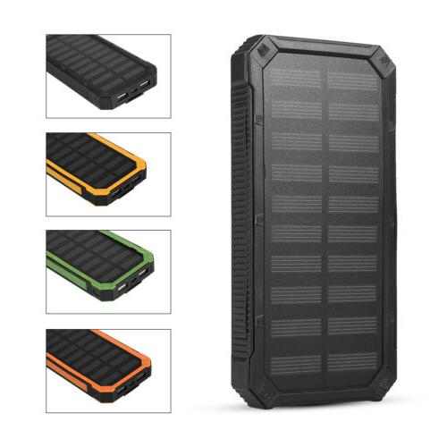 4 Dual-USB Solar Power Battery Charger Case