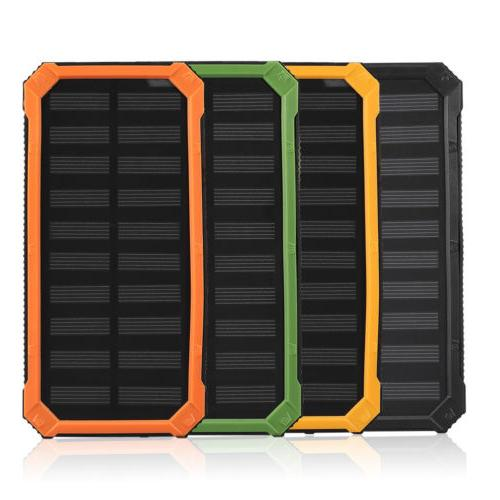 4 Colors Dual-USB Solar Power Bank Battery