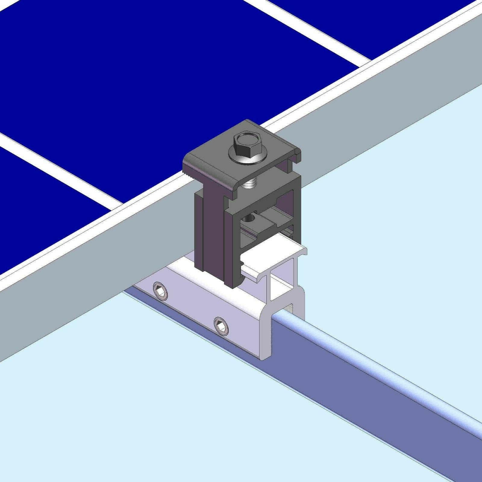 4 end clamp standing seam metal roof