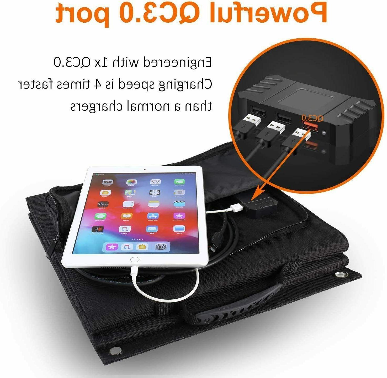 4 Panel Foldable 60W Portable Charger Suaoki/Jackery/Webetop