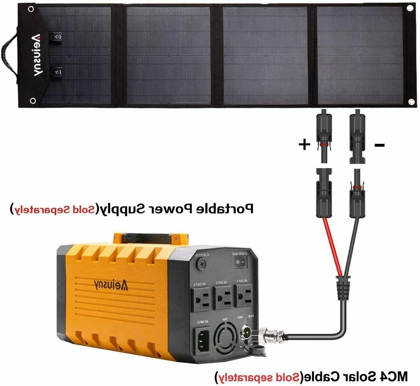 Portable Solar for Suaoki/Jackery/Webetop
