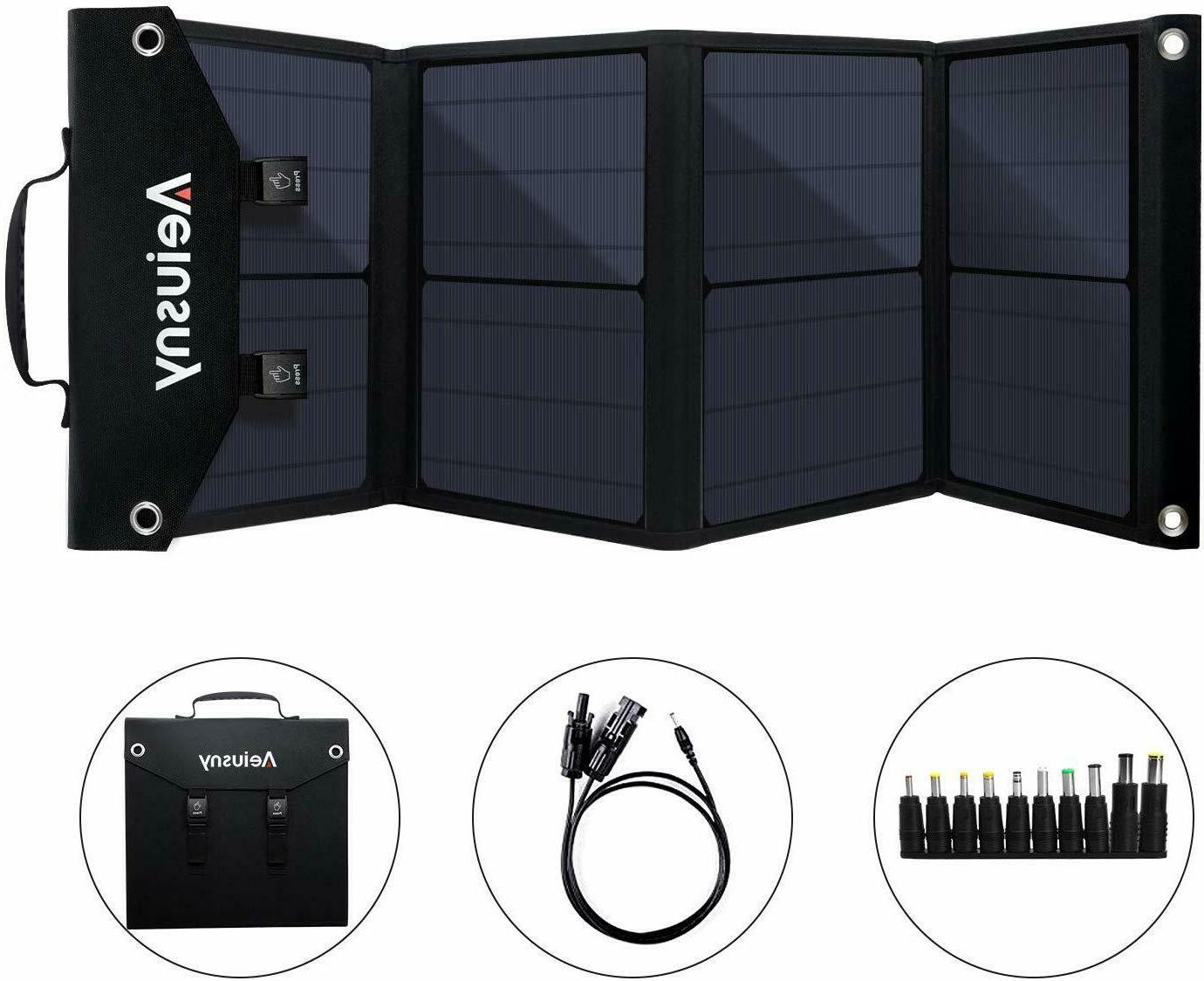 4 panel foldable 60w portable solar charger