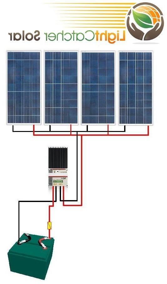 Watt Solar Panel Off Grid RV Boat