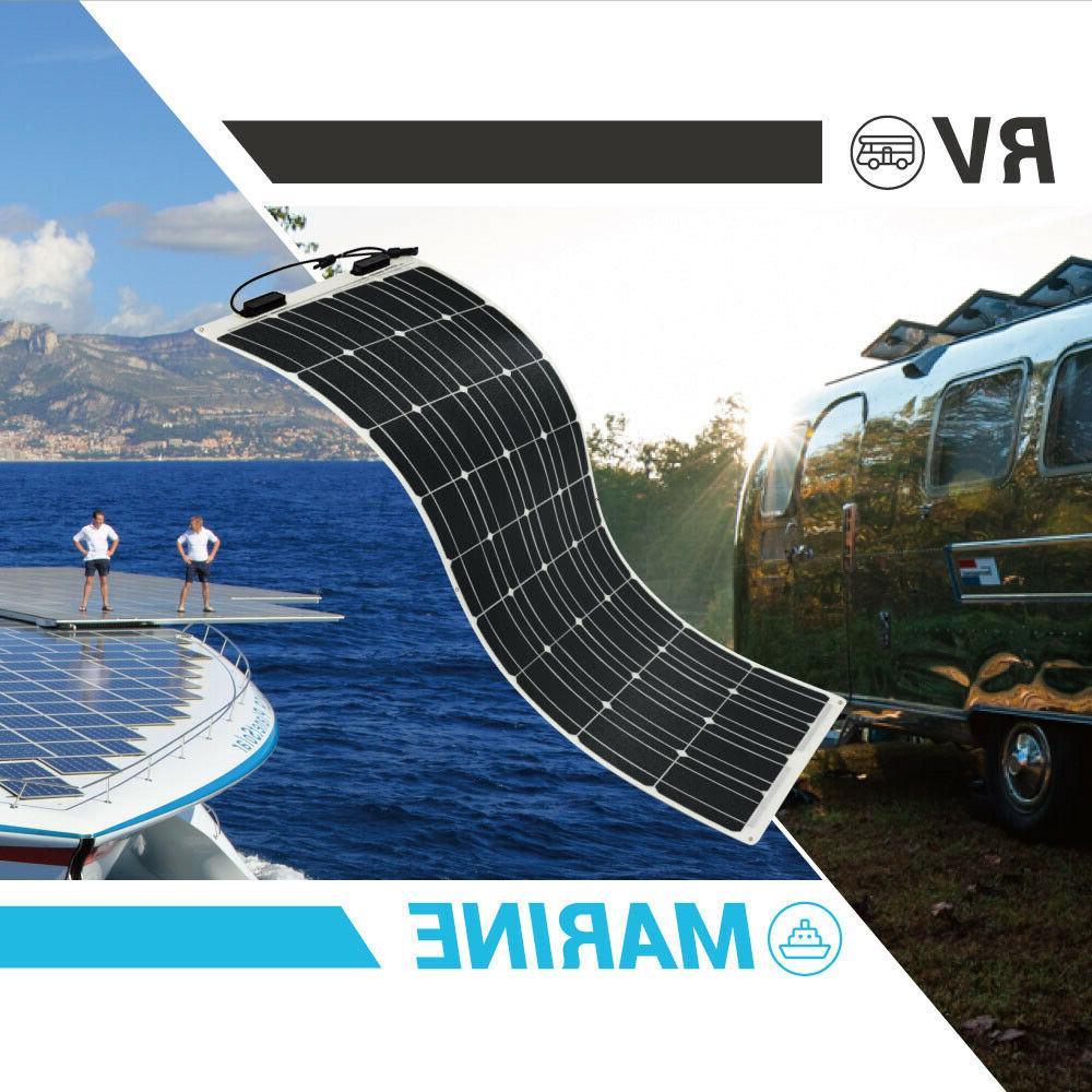 2pcs Renogy 100W Solar Panel 200W Watt Off Grid RV