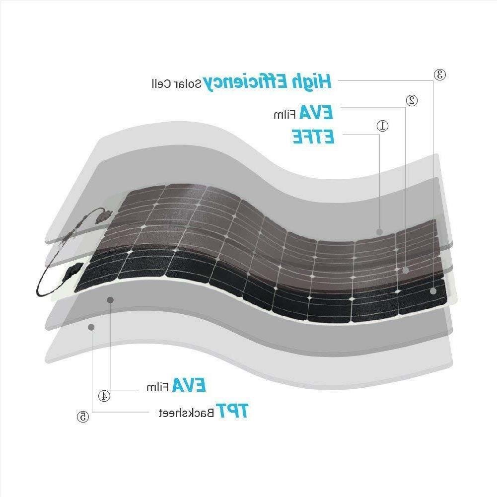4 X Renogy Highly Flexible 100w Mono Solar