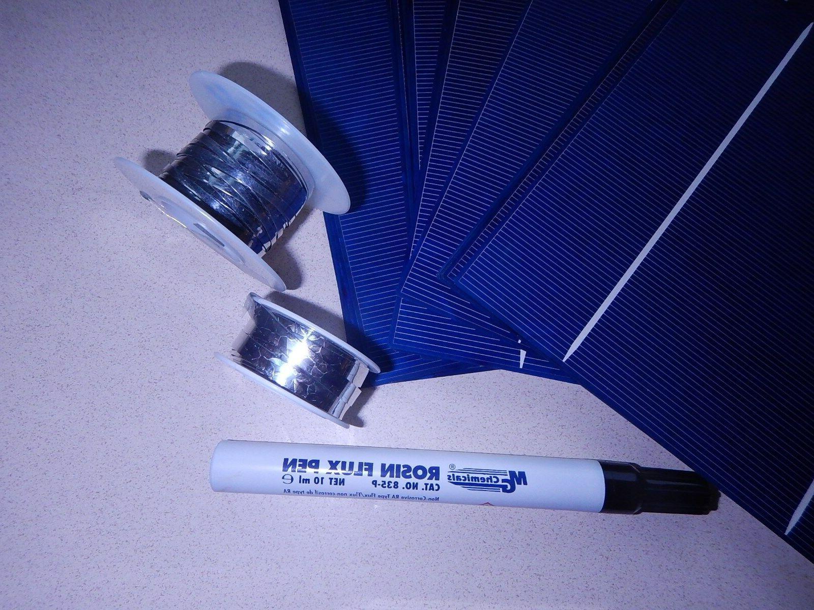 40 6x6 high solar kit-diy panels,jbx,flux wire