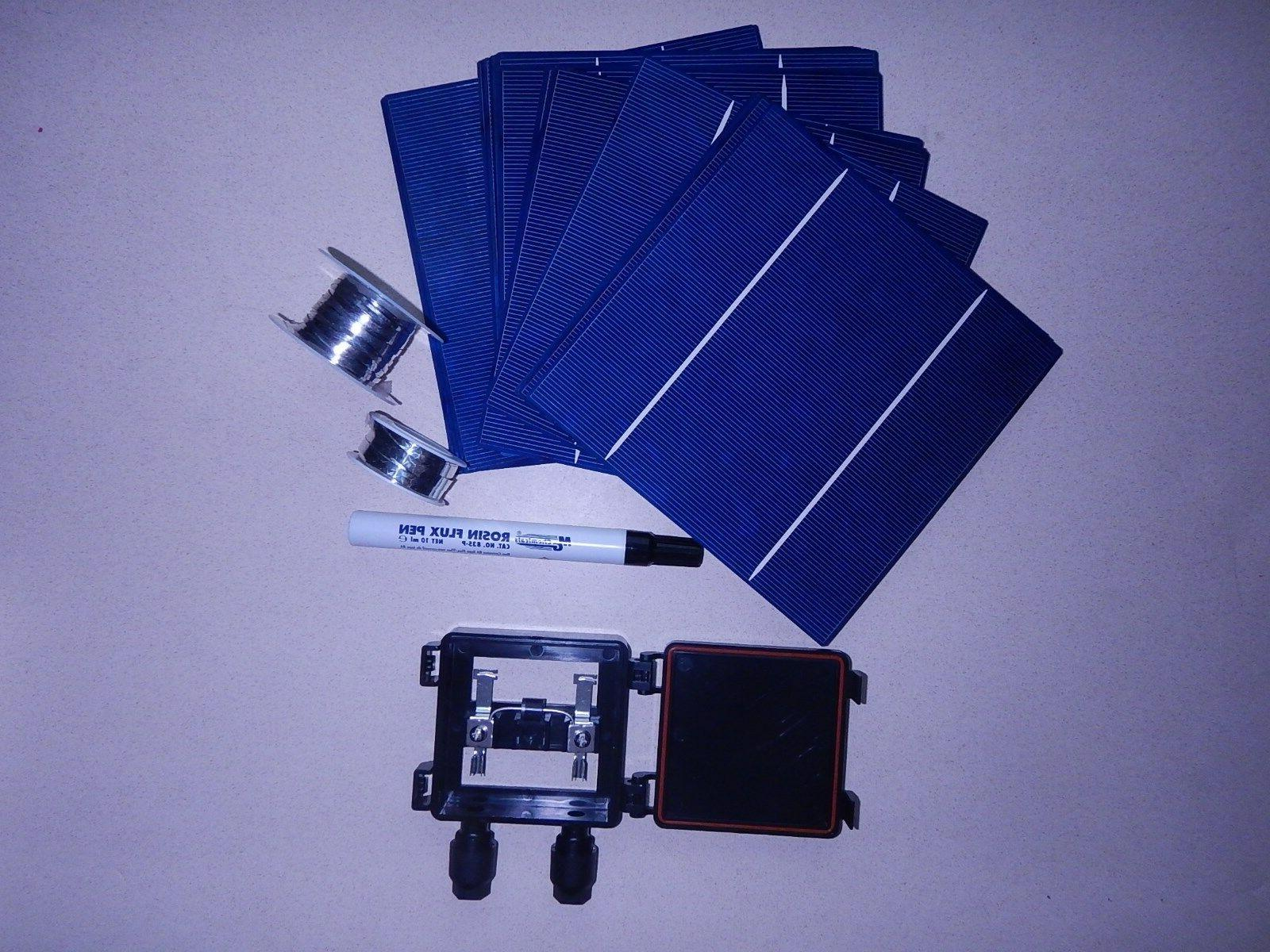 40 6x6 high efficient solar cell kit