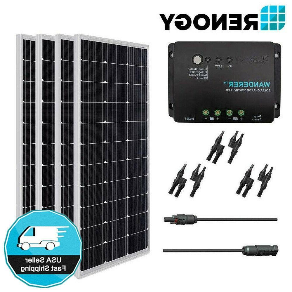 400w 12v mono solar panel bundle kit