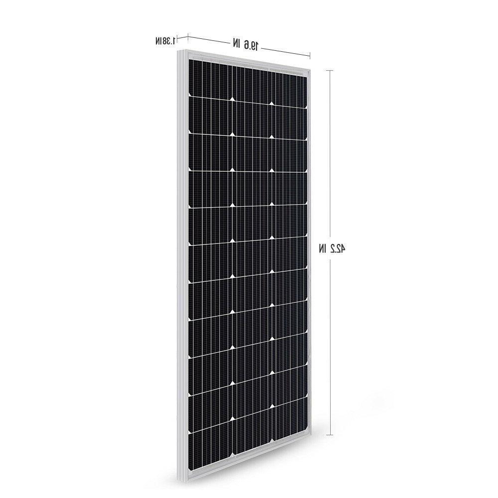 HQST 100 Watt Mono Solar Panel Kit w/ 30A
