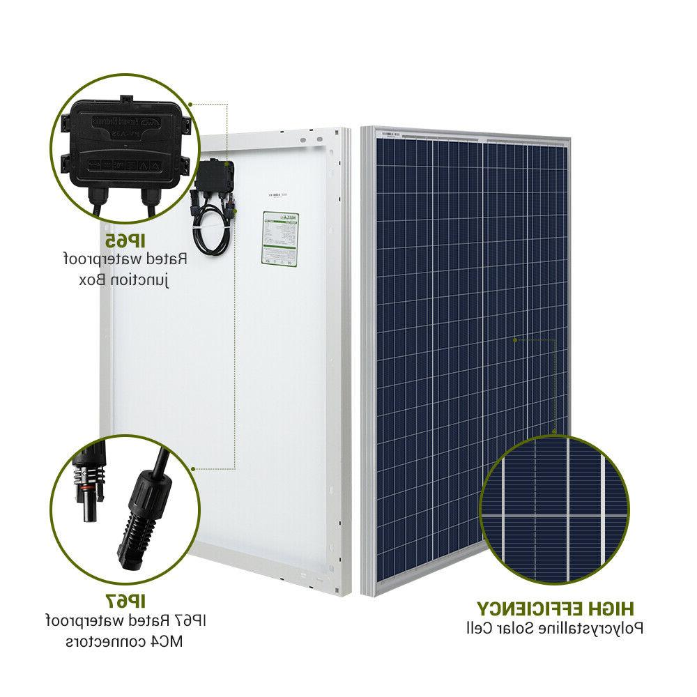 HQST 100W Solar 200W 12V 24V Off Grid