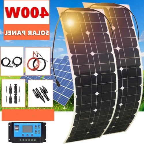 400W Flexible Solar Panel Kits 12V/24V 40A Controller for Ca