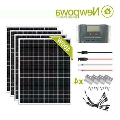 400w watt solar panel charging kit system