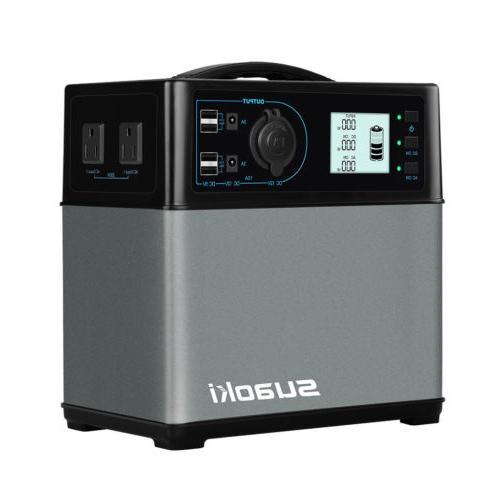 400Wh Solar Power Supply Generator 4 USB / 2 AC&DC Inverters