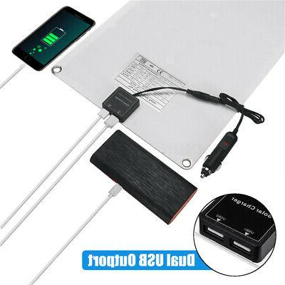 40W 18V Dual Solar Panel Cell Module Car Boat Outdoor Charger