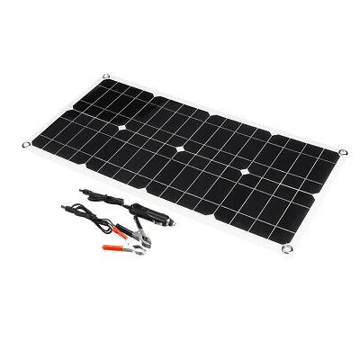 40W Dual USB Solar Battery Cell Car Boat Outdoor Charger
