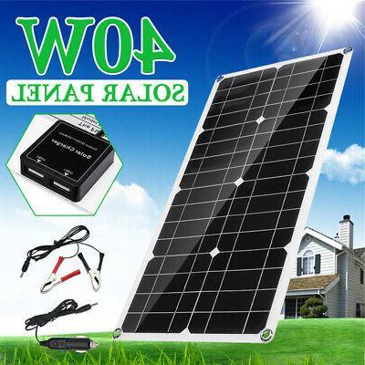 40w 18v dual usb solar panel battery