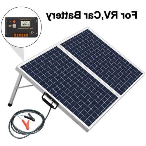 ECO 100W Suitcase Folding Solar Panel 12V Battery Charger Po