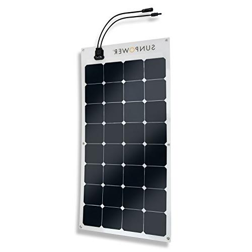 ExpertPower Solar Kit with SunPower Flexible Panel For Camping