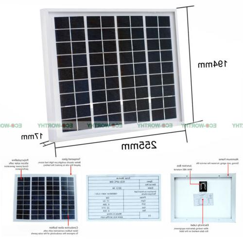 5W Watt Panel Ploy Solar Module Battery Charger Boat Power