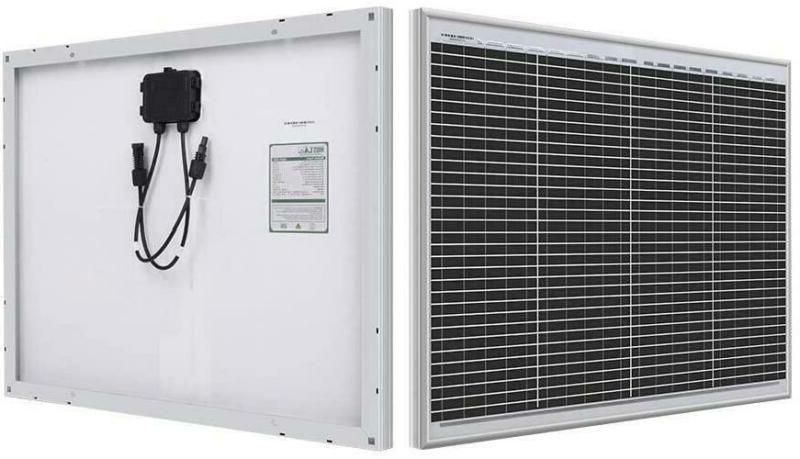 Hqst 50 Watt 12 Volt Monocrystalline Solar Panel For Off-Gri