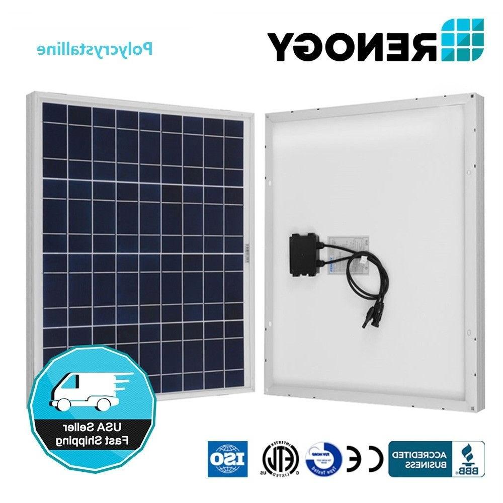 Renogy 50 Watt Solar Panel 50W 12V Off Grid PV Power Marine