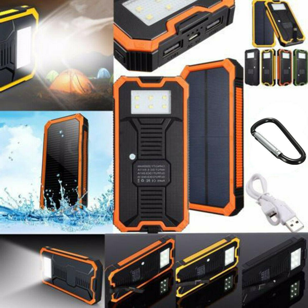 500000mAh Solar Charger Bank USB Battery US