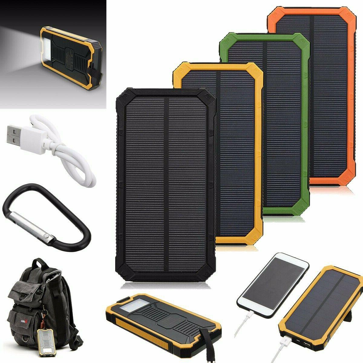 500000mah solar charger power bank waterproof portable