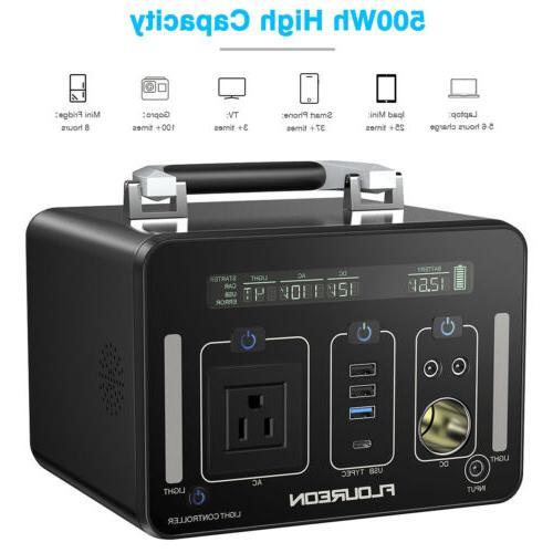 Portable 500Wh/140400mAh Power Supply Generators Li-On Batte