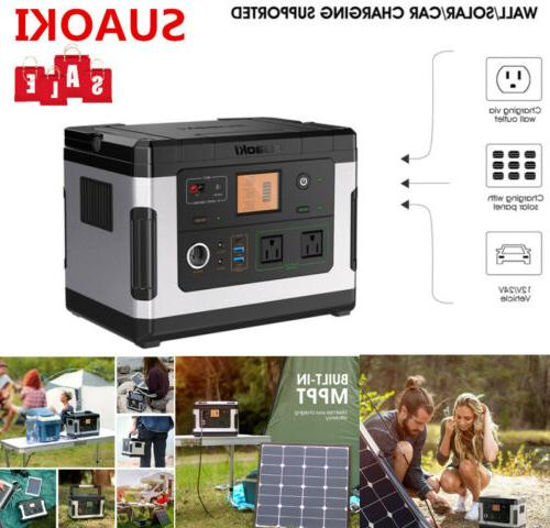 500wh portable solar generator power supply inverter