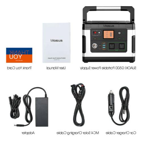 Suaoki G500 Portable Solar Station 600W Inverter