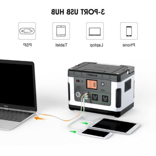 Suaoki G500 Portable Power Station Solar Generator Quick