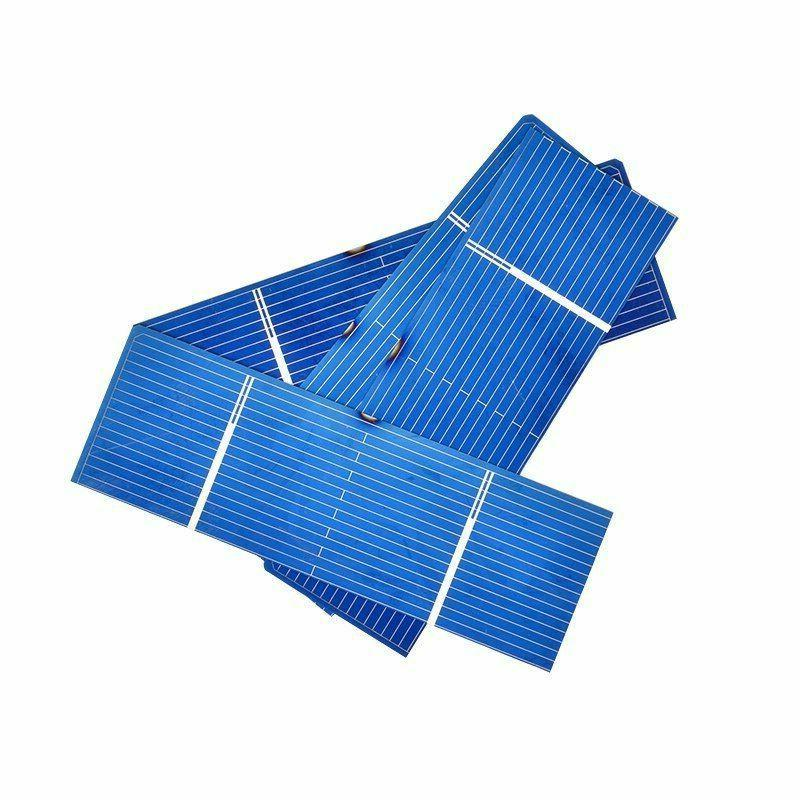 50Pcs Solar Panel Solar Cell 78x26mm 0.5V Color